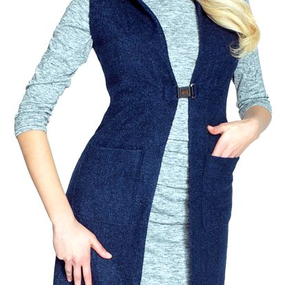Tmavě modrá vesta Marlen
