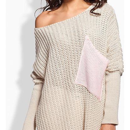Béžový svetr LS166