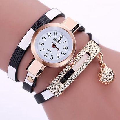 Dámské vícevrstvé hodinky s ozdobnou kuličkou