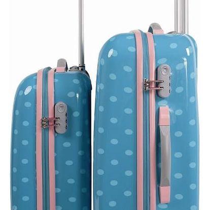 Sada 2 cestovních kufrů v tyrkysové barvě SKPA-T - doprava zdarma!