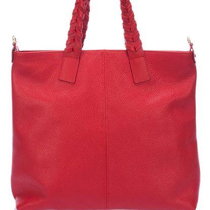 Červená kožená kabelka Lisa Minardi Elisa - doprava zdarma!