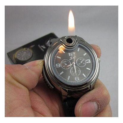 Pánské army hodinky se zapalovačem