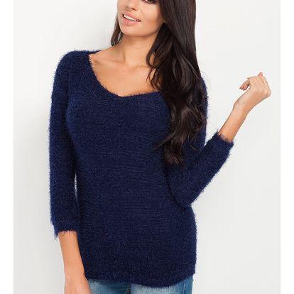 Tmavě modrý pulovr Fobya F220