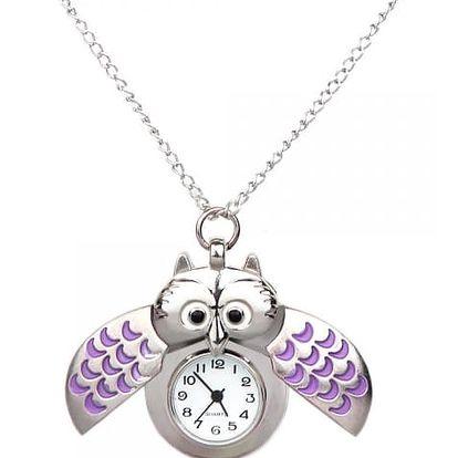 Kapesní hodinky v podobě sovy - 7 barev