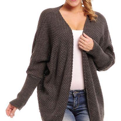 Tmavě šedý sveter Pinacolada