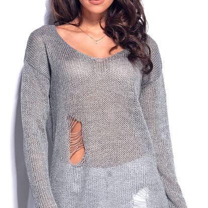 Šedý pulovr LS180