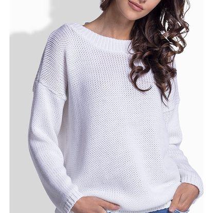 Bílý pulovr LS176