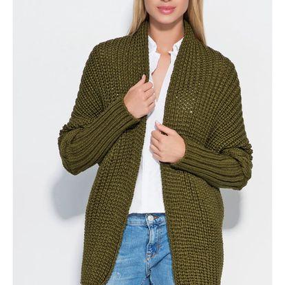 Tmavě zelený svetr S46