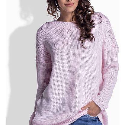 Světle růžový pulovr LS176