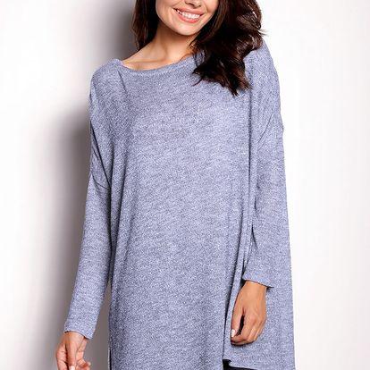 Šedo-modrý pulovr A154