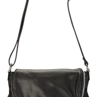 Černá kožená kabelka Giulia Massari Terni - doprava zdarma!