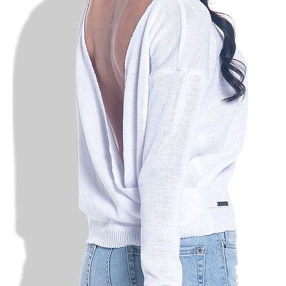 Bílý pulovr Fobya F361