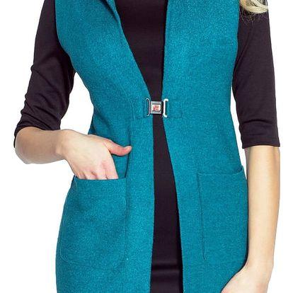 Tyrkysová vesta Marlen