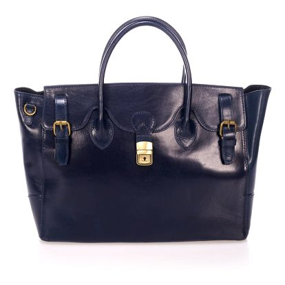 Modrá kožená kabelka Lisa Minardi Pomona - doprava zdarma!