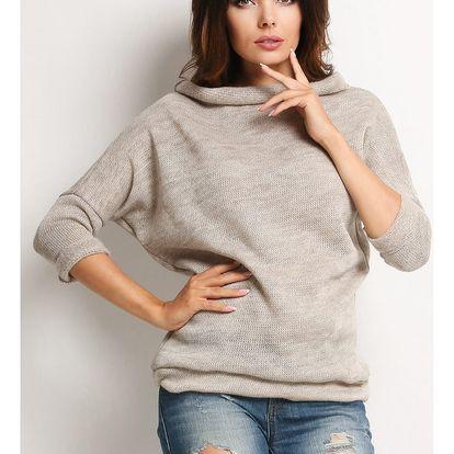Béžový svetr A121
