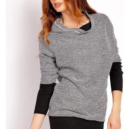 Světle šedý pulovr L019