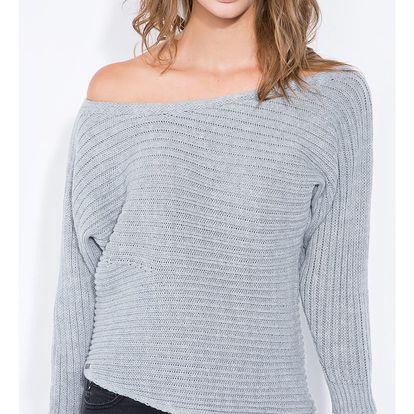 Šedý pulovr F344