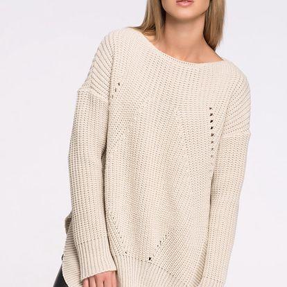 Béžový pulovr S33