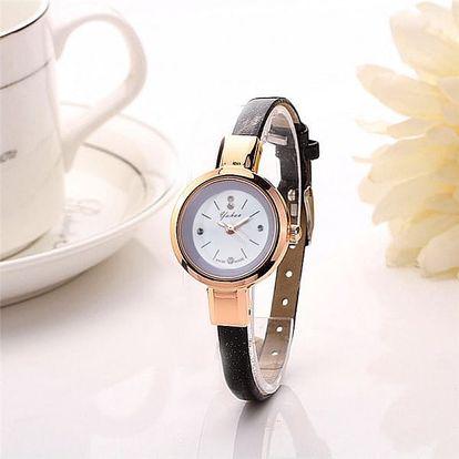 Náramkové hodinky pro dámy s uzoučkým páskem
