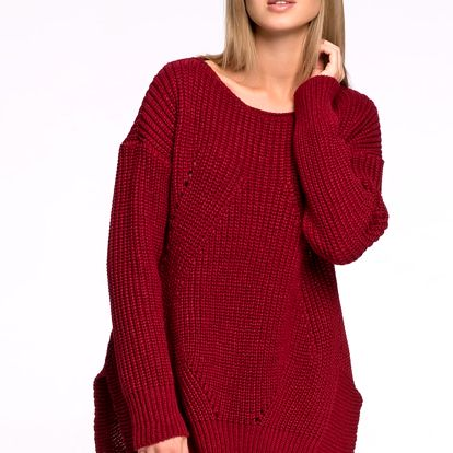 Bordový pulovr S33