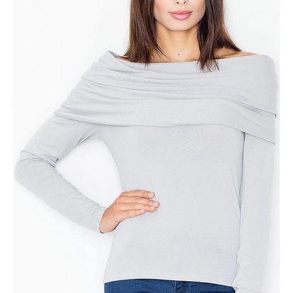 Světle šedý pulovr M469