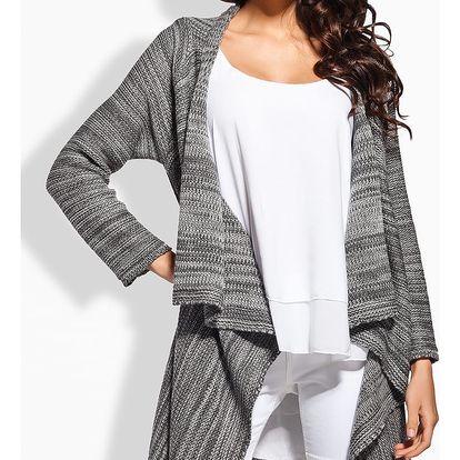 Tmavě šedý svetr LS161
