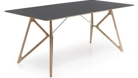 Černý jídelní stůl z dubového dřeva Gazzda, 200cm - doprava zdarma!