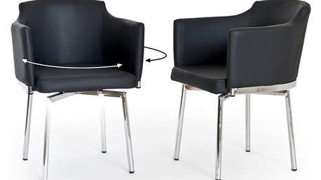 Sada 2 černých otočných židlí RGE Detroit - doprava zdarma!