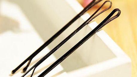 Sada pírek na vlasy v černé barvě 60 ks