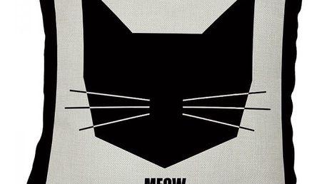 Stylový povlak na polštář s motivem kočky - 7 variant