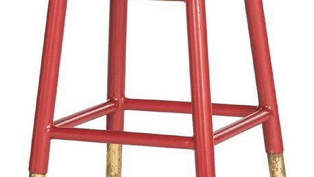 Červeno-zlatá stolička Safavieh Counterstool - doprava zdarma!