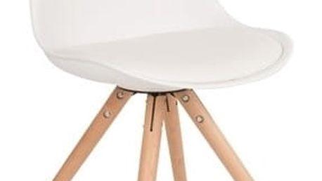 Bílá židle Tryck - doprava zdarma!
