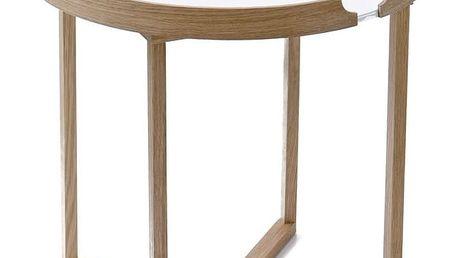 Bílý odkládací stolek Wireworks Damieh, 45x45cm - doprava zdarma!