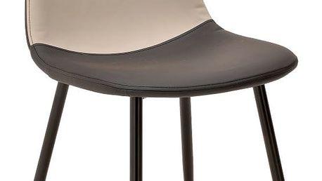 Černo-šedá židle InArt Elegant - doprava zdarma!