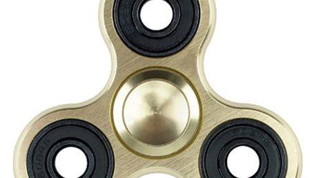 Fidget spinner - antistresová hračka ve zlaté barvě