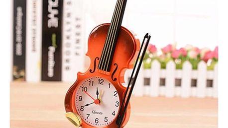 Budík v podobě houslí - 2 barvy