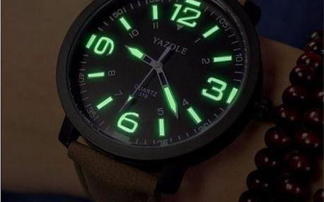 Pánské hodinky s fluorescenčním ciferníkem