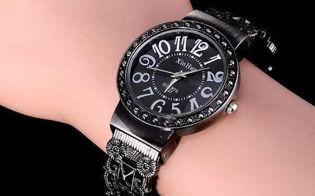 Vintage dámské hodinky s ozdobným páskem - 2 varianty