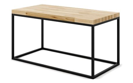 Konferenční stůl Noi Oak Absynth, velký, dub/černá - doprava zdarma!