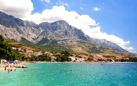 8denní pobyt s polopenzí u moře v letovisku Baška Voda v Chorvatsku pro 1 osobu