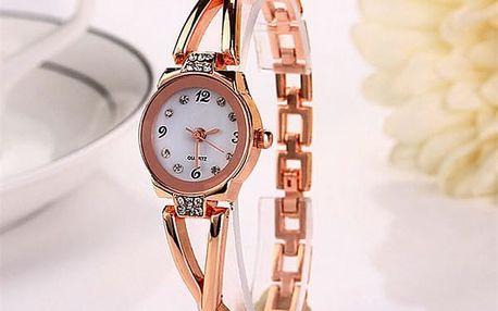 Jemné dámské hodinky s kamínky