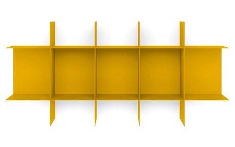 Žlutá nástěnná police MEME Design Innesto - doprava zdarma!