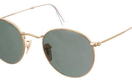 Sluneční brýle Ray-Ban Round Metal Dorado Matte - doprava zdarma!