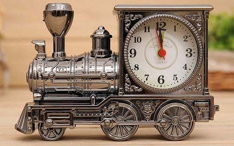 Retro budík v podobě lokomotivy