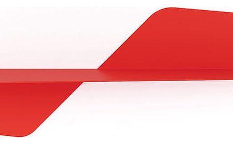 Červená nástěnná police MEME Design Flap, délka80cm - doprava zdarma!