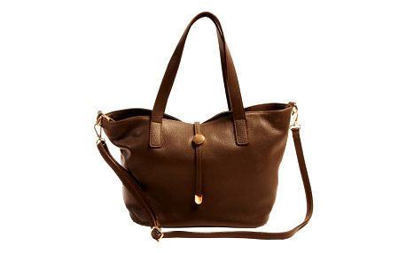 Hnědá kabelka z pravé kůže Andrea Cardone Matteo - doprava zdarma!