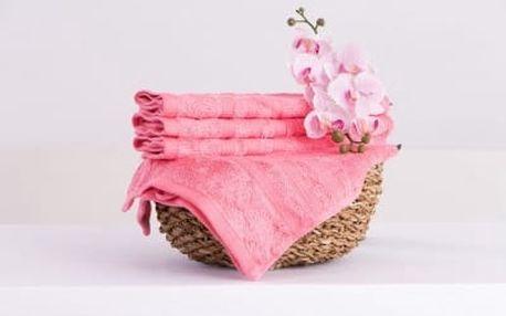 XPOSE ® Bambusový ručník SÁRA - růžová 30x50cm 6ks