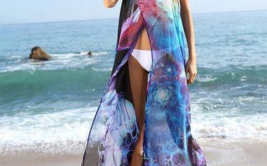 Lehoučké barevné pareo přes plavky - dvě varianty