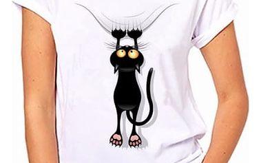 Dámské tričko s motivy kočiček - velikost 7 - dodání do 2 dnů