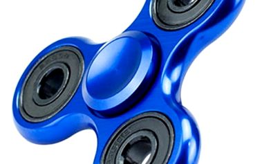 Trojcípý fidget spinner modré barvě